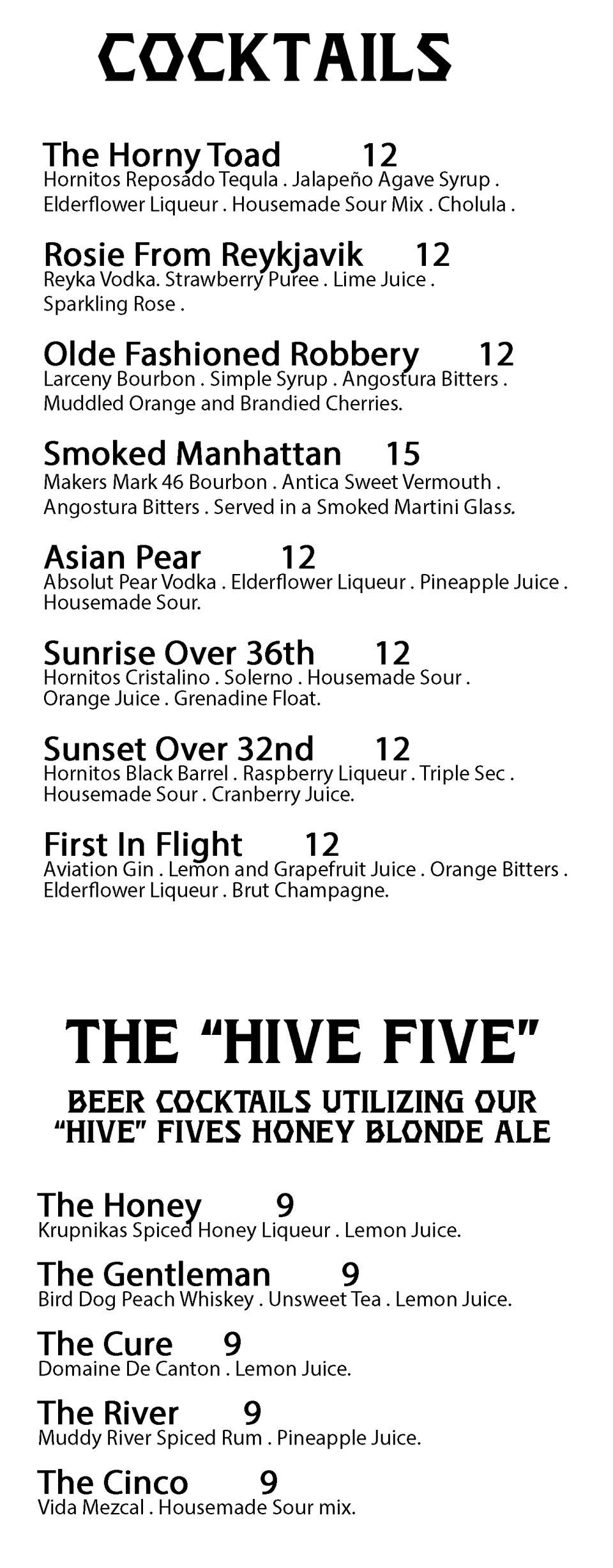 Cocktails 2-22-18
